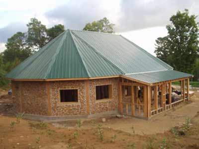 Cordwood home plans find house plans for Cheapest house to build yourself